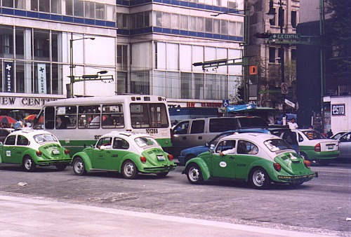 Taxi's in Mexico City